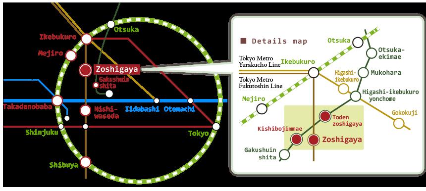 Railmap of Zoushigaya